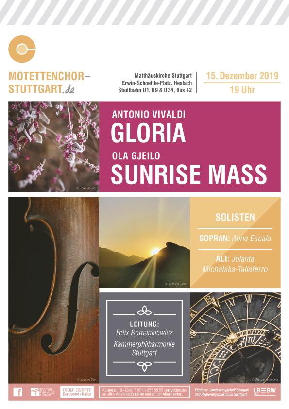 Bild vom Weihnachtskonzert des Motettenchors Stuttgart 2019