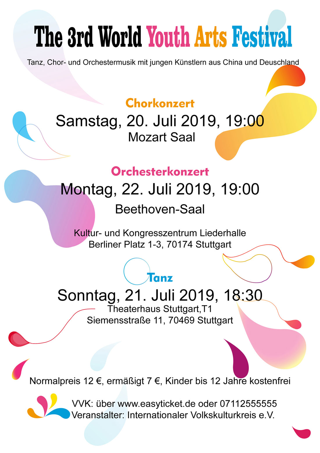 Plakat vom Third Youth Festival im Juli 2019 in Stuttgart