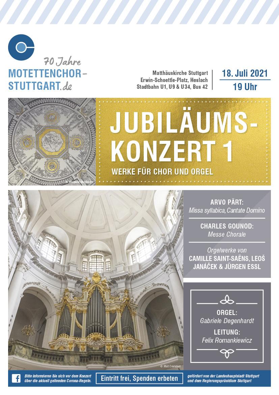 Bild des Konzertplakates zum Jubiläumskonzert des Motettenchors Stuttgart