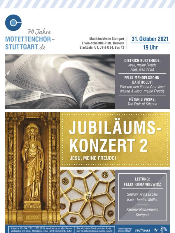 Bild des Plakats fürs Jubiläumskonzert 2 des Motettenchors Stuttgart