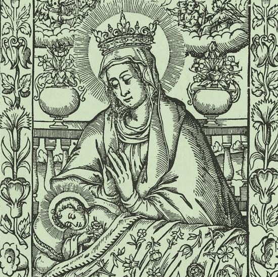 Bild einer Heiligendarstellung - Maria mit Kind
