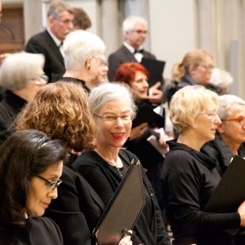 Bild aus der Probe zum Weihnachtskonzert 2019 des Motettenchors Stuttgart